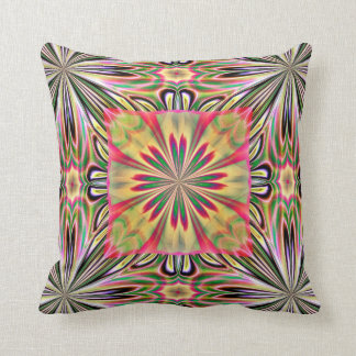 Green Pink Flower American MoJo Pillows