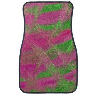 Green & Pink Fractals Car Mat