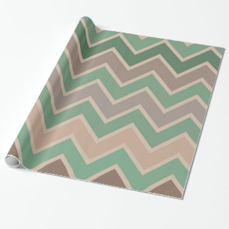 Green Pink Peach Chevron Gift Wrap Paper