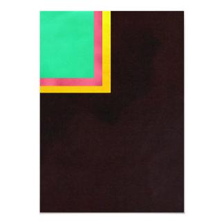 Green-Pink Yellow Black 5x7 Paper Invitation Card