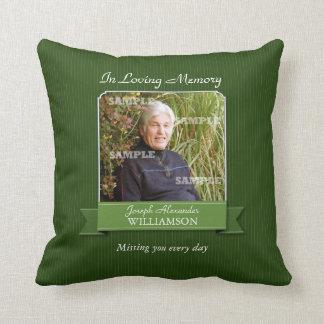 Green Pinstripe Memorial American MoJo Pillow Throw Cushions