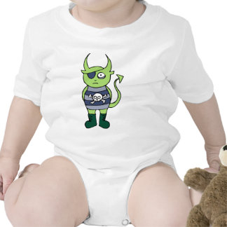 Green Pirate Monster Baby Bodysuits