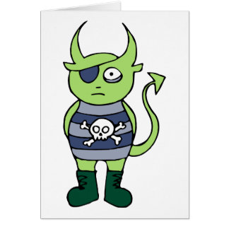 Green Pirate Monster Card