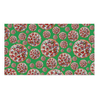 Green pizza pie business card