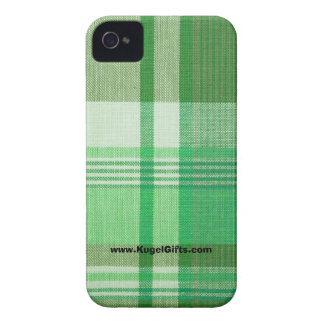 Green Plaid Case-Mate ID 4 4S iPhone 4 Covers