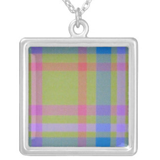 Green Plaid Necklace