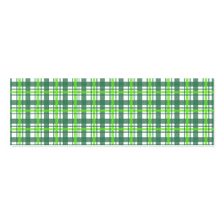 Green Plaid Pack Of Skinny Business Cards