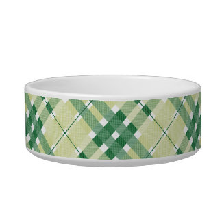 Green Plaid Pattern Bowl