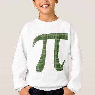 Green Plaid Pi.png Sweatshirt