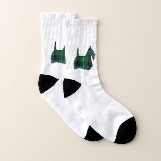 Green Plaid Scottie Dog Socks