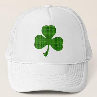 Green Plaid Shamrock Trucker Hat