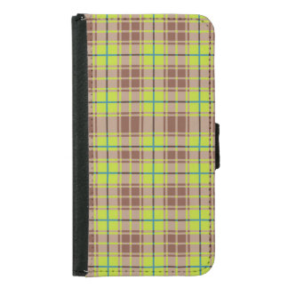 Green Plaid Wallet Case