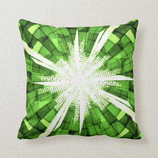 Green Plaid with White Bow American MoJo Pillow