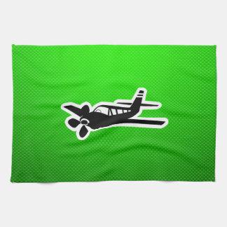 Green Plane Towel
