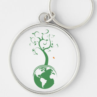 Green Planet keychain