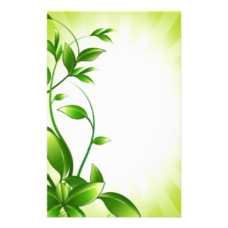 Green Plant Fash Personalized Stationery