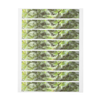 Green plant leaf wraparound address label