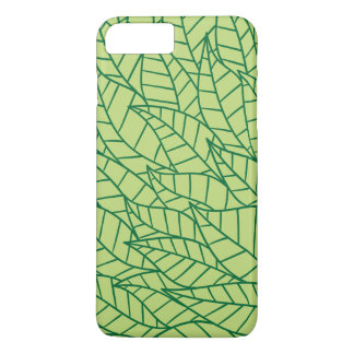 Green plant leaves pattern iPhone 7 plus case