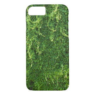 Green plant on a brick wall iPhone 7 case