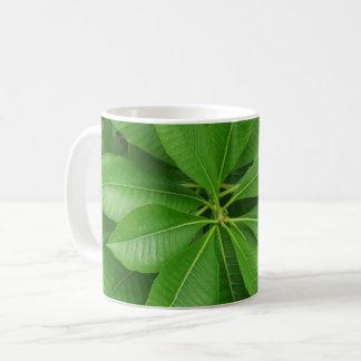Green Plant White Coffee Mug