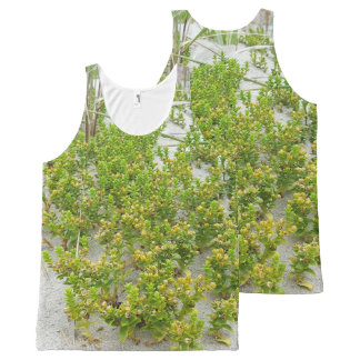 Green plants at the beach All-Over print singlet