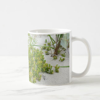 Green plants at the beach coffee mug