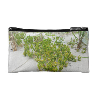 Green plants at the beach cosmetic bag