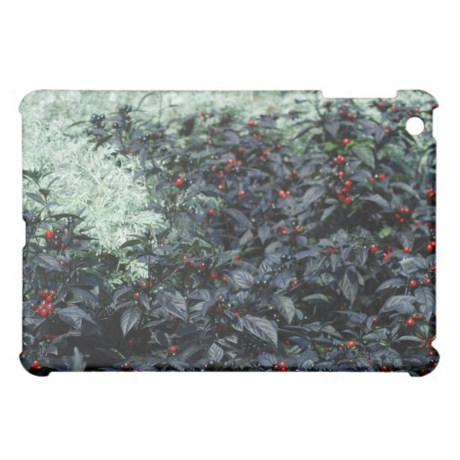 green plants with black iPad mini cover