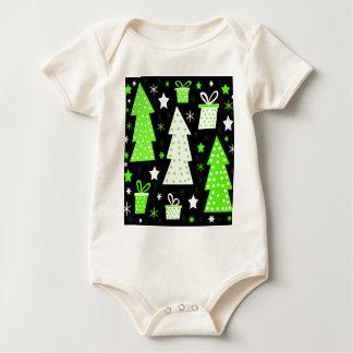 Green playful Xmas Baby Bodysuit