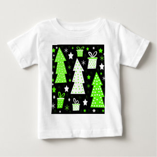 Green playful Xmas Baby T-Shirt