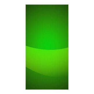 Green Pocket Customized Photo Card