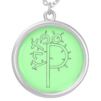 Green Poetry Tree Necklace