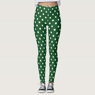 Green Polka Dot Leggings