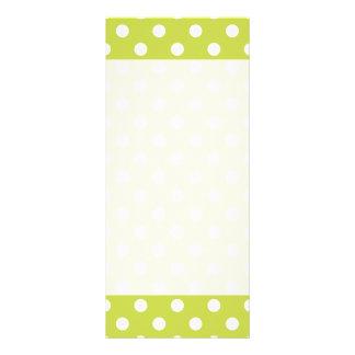 Green Polka Dot Pattern 10 Cm X 23 Cm Rack Card