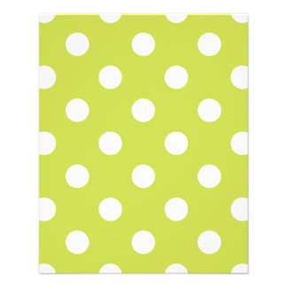 Green Polka Dot Pattern 11.5 Cm X 14 Cm Flyer