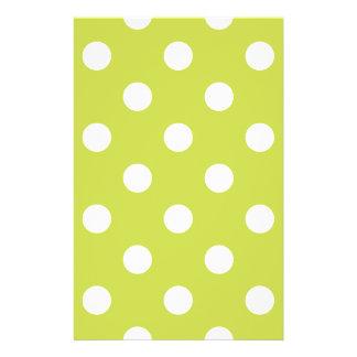 Green Polka Dot Pattern 14 Cm X 21.5 Cm Flyer