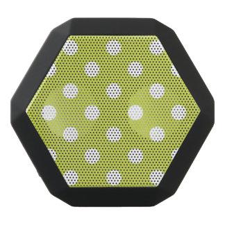 Green Polka Dot Pattern Black Bluetooth Speaker