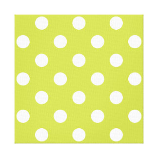 Green Polka Dot Pattern Canvas Print