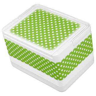 Green Polka Dot Pattern Cooler