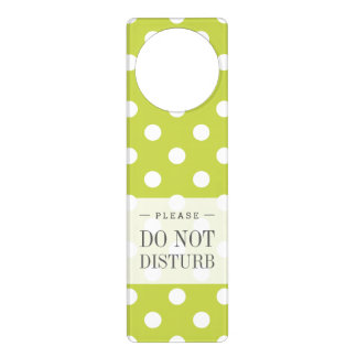 Green Polka Dot Pattern Door Hanger
