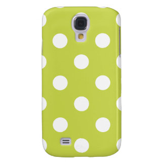 Green Polka Dot Pattern Galaxy S4 Cover