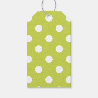 Green Polka Dot Pattern Gift Tags