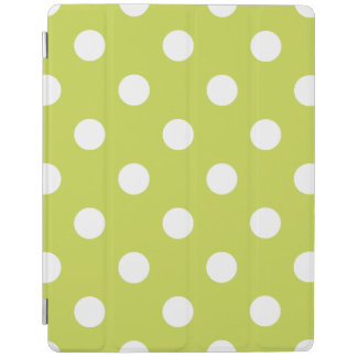Green Polka Dot Pattern iPad Cover