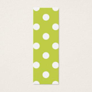 Green Polka Dot Pattern Mini Business Card