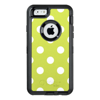 Green Polka Dot Pattern OtterBox Defender iPhone Case