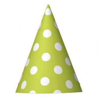 Green Polka Dot Pattern Party Hat