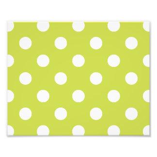 Green Polka Dot Pattern Photograph