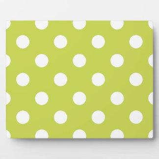 Green Polka Dot Pattern Plaque