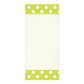 Green Polka Dot Pattern Rack Card