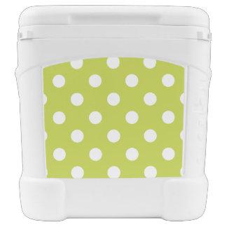 Green Polka Dot Pattern Rolling Cooler